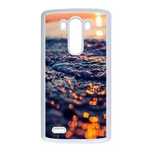 Cute TPU Case Seashore Foam Closeup LG G3 Cell Phone Case White