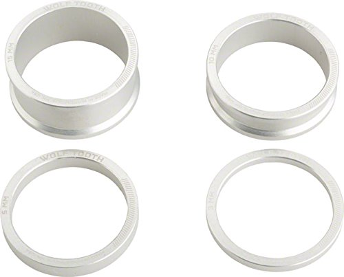 Wolf Tooth Components Headset Spacer Kit 3, 5, 10, 15mm, Silver by Wolf Tooth Components
