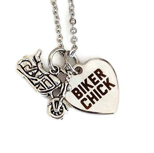 Biker Chick - Harley girl - motorcycle - cyclist - stainless steel