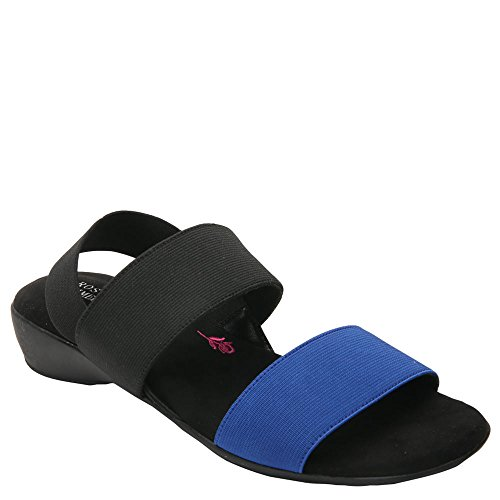 Ros Hommerson Women's Melissa Elastic Casual Sandals, Black, Rubber, Foam, 8 M