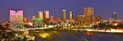 Fort Worth Texas Skyline PHOTO PRINT UNFRAMED CHOOSE FROM 3 STYLES 11.75 inches x 36 inches Photographic Panorama Poster Picture Standard - Fort Stores Worth