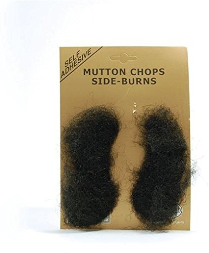 Black Stick-on Mutton Chops -