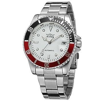 Relojes Hermosos, WINNER Hombre Reloj de Pulsera Reloj de Moda Reloj Casual Cuerda Automática Calendario
