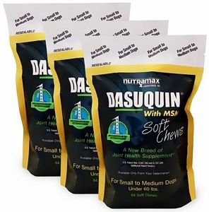 3PACK Dasuquin Soft Chews for Small to Medium Dogs with MSM (252 Chews) by Dasuquin