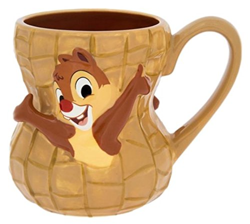 Disney Parks Chip and Dale Peanut Ceramic Mug Cup NEW