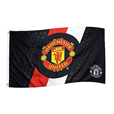 Manchester United Spot & Stripe Flag (3ft x 5ft)