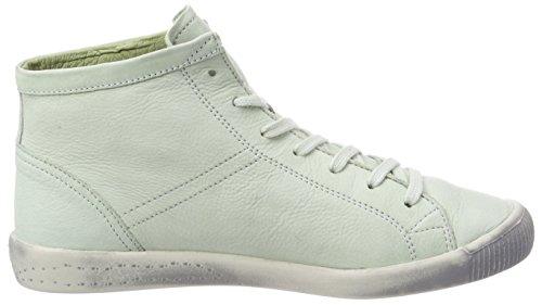 Alto A Collo Isleen Green Sneaker Donna pastel Grün Washed Softinos IPXSnxX