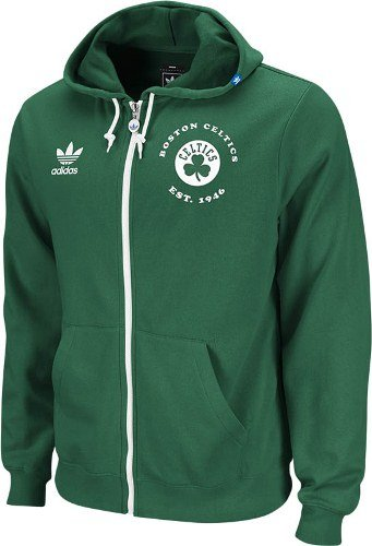 adidas Boston Celtics Vintage Originals Late Charge Full Zip Hooded Sweatshirt camisa