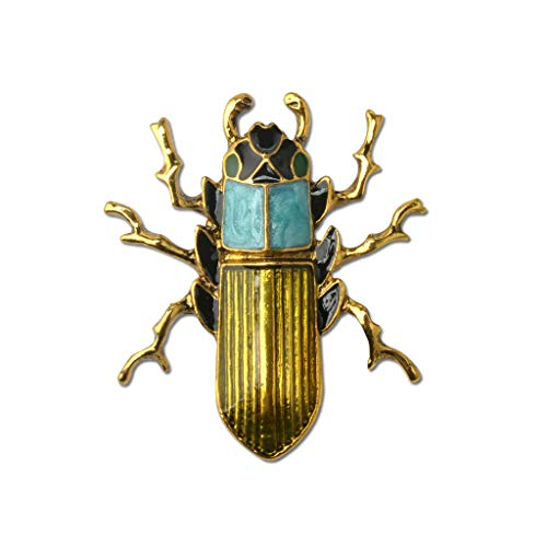(PunkStyle Enamel Beetle Insect Brooch Pin Fashion Jewelry Gifts for Women/Men (Bug Brooch))