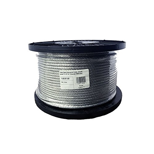 BH-USA 1/4 inch Galvanized Wire Rope Spools 500' by BH-USA