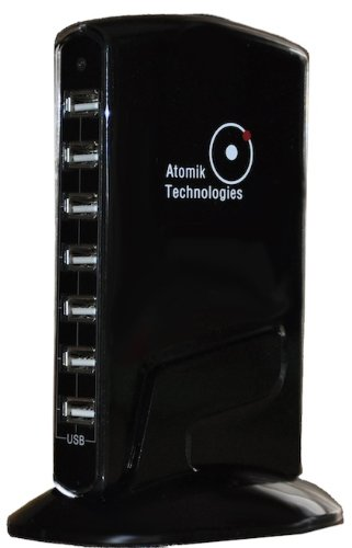 Atomik Technologies 10 Port Dynamic High-speed USB Hub