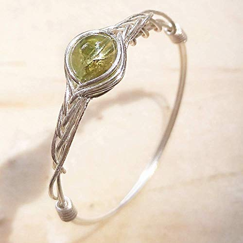 1pc 8# Original Handmade 925 Sterling Silver Genuine Peridot Ring By GRB ROY (5-12# available)