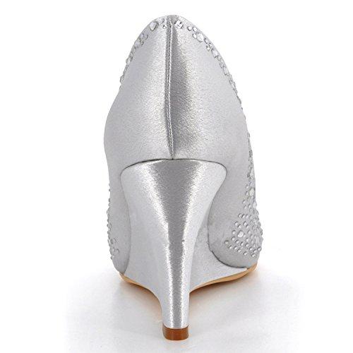 Kevin Fashion ,  Damen Hochzeitsschuhe , Weiß - Blanco - Style2-White - Größe: 43 EU