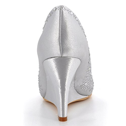 Kevin Fashion , Chaussures de mariage tendance femme - Blanc - Style2-White, 43