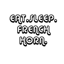 EAT SLEEP FRENCH HORN Music Car Laptop Wall Sticker