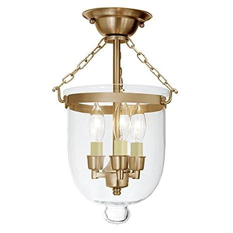 Amazon.com: jvi diseños 1015 – 10 Semi Flush Bell Jar ...