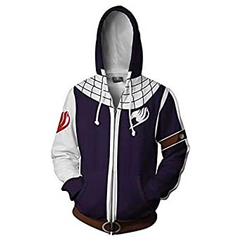 Rbop Hombre Unisex Anime 3D Impreso Cosplay Sudadera Pullover con Capucha Fairy Tail Bale Chain: Amazon.es: Ropa y accesorios