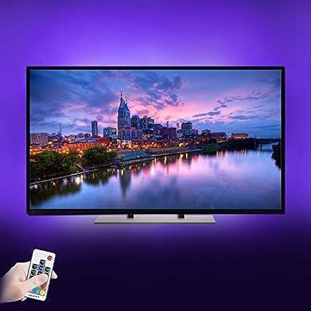 HKHJN Retroiluminación LED for TV - 6 x 1.64 pies RGB USB Operación Tira de LED for 40-60