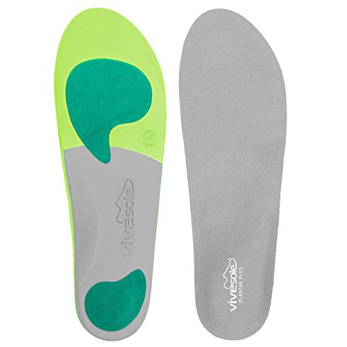Orthotics by ViveSole - Plantar Plus - Best Plantar Fasciitis Shoe Inserts for Maximum Comfort & Pain Relief from Flat Feet & Back Pain - Insoles Provide Arch & Heel Support - Vive Guarantee (Medium) (Orthotics Shoe Inserts compare prices)