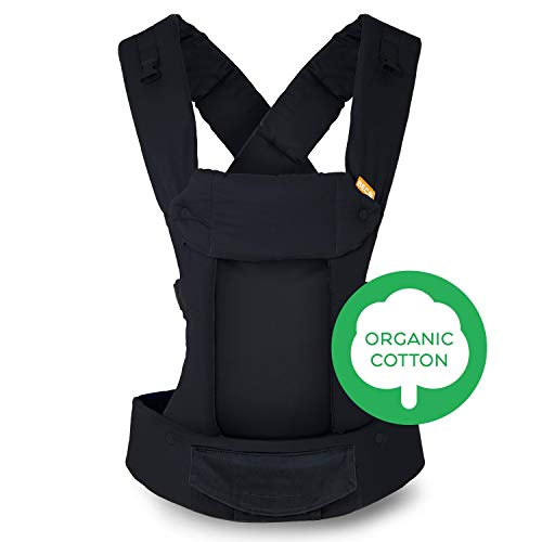 Baby Carrier- Organic Metro Black Gemini - Mesh Multi-Position Soft Structured Sling w/Adjustable Straps by Beco Comfort Padding for Infant/Toddler Hip Support use on The Front or wear as a Backpack