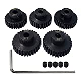 AMOGOT Metal Steel 48P Pinion Gear 28T 29T 30T 31T 32T 3.175mm Shaft Motor Gears Set with Hex Key for 1/10 RC Brushless Brush Motor RC Upgrade Part