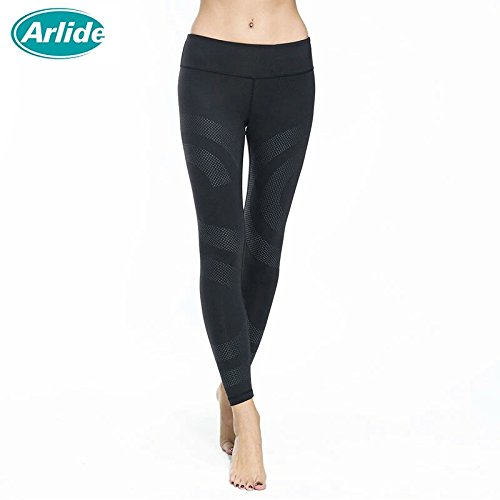 [Fitness Women's Sports Leggings Running Yoga Pants Slim Fit Elastic Waist Spandex Breathable Quick Dry Tights Gym] (Pirate Makeup Female)