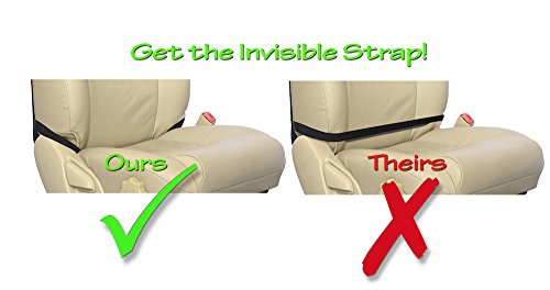 Tike Smart Premium Kick Mats - Luxury Seat Back Protectors and Seat Covers with Invisible Strap - 2-Pack - Black by Tike Smart (Image #2)
