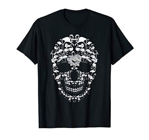 Flamingo Skull Shirt Skeleton Halloween Costume Idea -