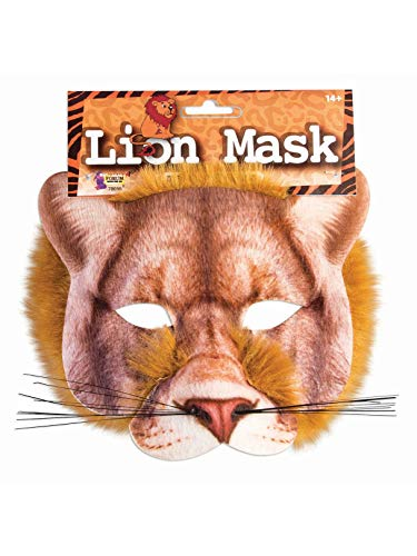 Forum Novelties 78698 Unisex-Adults Half Mask-Lion, Light Brown, Standard, One Size, Multicolor