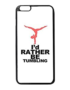 I'd Rather Be Tumbling Gymnastics Custom Image Case iphone 5c- es case , Diy Durable Hard Case Cover for iphone 5c , High Quality Plastic Case By Argelis-Sky, Black Case New