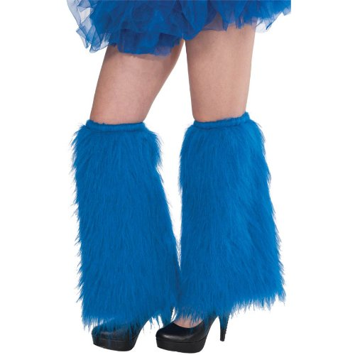 Amscan Plush Leg Warmers, Party Accessory, Blue -