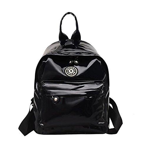 molle di casuale cuoio borsa 20 multifunzionale delle di borsa zaino modo 12 donne PU 28cm La 1qxpwBRv