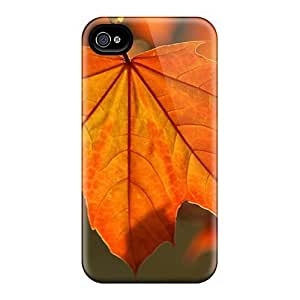 Special Design Back Orange Leaf Phone Cases Covers For Iphone 6plus by ruishername