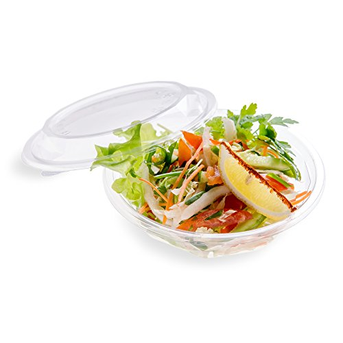 24-OZ PLA Plastic To-Go Bowl – Clear Round Cold Food Container: Perfect for Catering Events & Restaurant Takeout – Compostable and Biodegradable – 500-CT – Basic Nature Collection – Restaurantware by Restaurantware