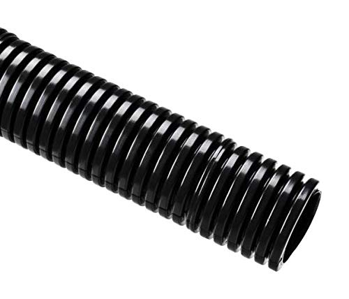 166-90190 - Conduit, HelaGuard Corrugated, 3/8, 100', Nylon 6 (Polyamide 6), Uncoated, Black, 15.8 mm (166-90190)