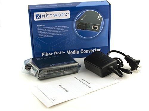 Gigabit Ethernet Fiber Media Converter - UTP to 1000Base-SX - ST Multimode, 550m, 850nm by Networx (Image #3)