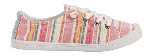 Maurices Womens Mariah Stripe Sneaker Rosa Multi