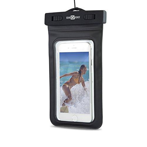 Gear Beast Heavy Duty Universal Cell Phone Dry Bag IPX8 Certified Waterproof Case Pouch for iPhone X 8 Plus 7 Plus 8 7 6s Plus 6s 6 Plus 6 Galaxy S8 S8 Plus S7 S7 Edge S6 Note 8 5 for Men Women Kids