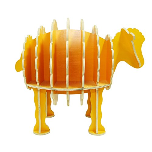 Home Office Furniture Bookshelf Solid Wood Sheep Shape Simple Assembly fine Compression 66 46 54 ()