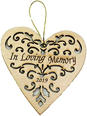 Twisted Anchor Trading Company 2019 Memorial Ornament In Loving Memory Ornament Memorial Christmas Ornament Heart Shaped Wood Ornament Comes In An Organza Gift Bag So Its Ready For Giving Buy