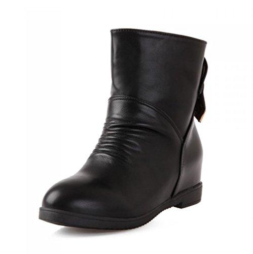 40 Taille 43 Et Blackcashmere Cachemire 37 Court Grande Strass Dames talon Bottes Bowknot Chaussures Botxv Automne Wedge Artificiel Mi Femmes Hiver SZOq8xw6