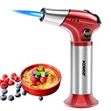Torch Lighter, Kollea Butane Kitchen Torch Refillable Chef Cooking Blow Torch with Safety Lock, Adjustable Flame [MAX 2500℉] for Creme, Brulee, Toasting, Barbeques, Soldering