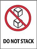 National Marker Corp. IHL15AL Do Not Stack Label