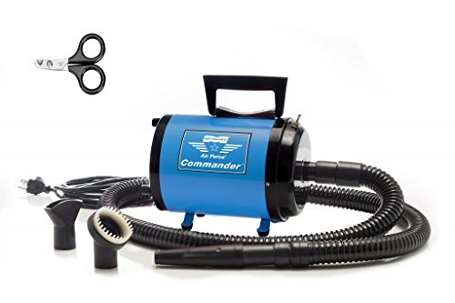 - Metrovac's Air Force Commander Professional Pet Grooming Dryer – Portable, Variable Speed 4.0HP Motor – Ideal for Double-Coated Dogs – 5 Unique Colors (Blue)