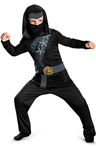 [Mememall Fashion Blackstone Stealth Ninja Child Costume] (Child Blue Stealth Ninja Costumes)
