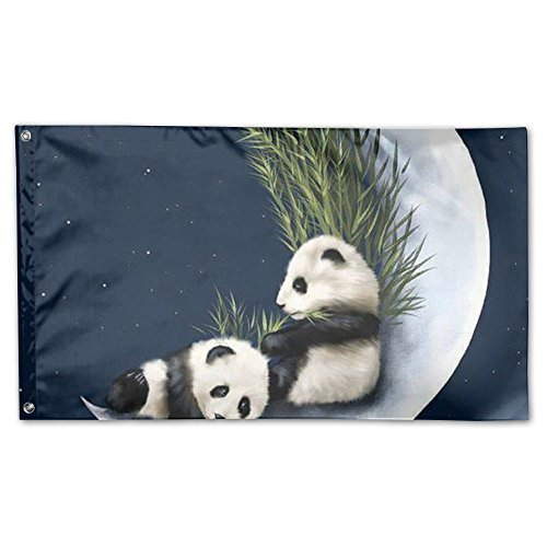 Online Panda Animal Moon Fall Lawn Yard Garden Flags 3x5 All