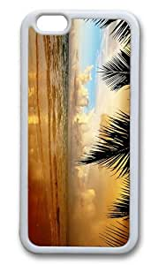 MOKSHOP Adorable beach Soft Case Protective Shell Cell Phone Cover For Apple Iphone 6 Plus (5.5 Inch) - TPU White by lolosakes