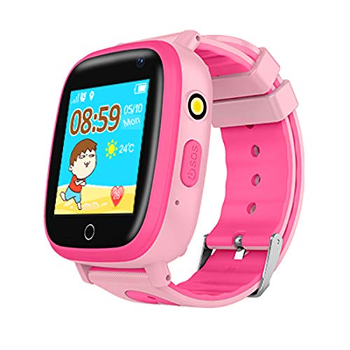 Kids Waterproof Smartwatches Phone, Children Tracker Phone with WiFi GPS LBS Positioning Locator Anti-lost SOS Call Wristwatch with Call Voice Chat Pedometer Alarm Clock for Boys Grils (Pink) by Beacon Pet (Image #2)