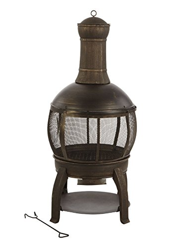 Living Accents Chimnea Cast Iron Cast Iron Firept 47''H x 22''W by Living Accents
