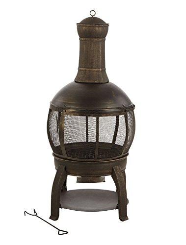 Round Chimenea Iron Cast - Living Accents Chimnea Cast Iron Cast Iron Firept 47